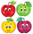 various apples collection 3 vector image vector image