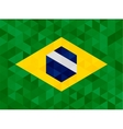 waving fabric flag brazil vector image