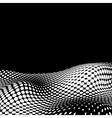 Wavy Halftone Background For Text vector image vector image