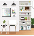 white living room vector image vector image