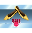 Yellow shoes with dots vector image vector image