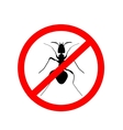 ant warning sign no ants - vector image