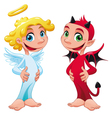 Baby Angel and Devil vector image