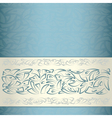 Ornamental pattern template vector image