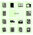 14 news icons vector image vector image