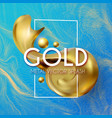3d gold swirl element realistic abstract design vector image vector image