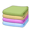 a stack of clean linensuhaya cleaning single icon vector image vector image