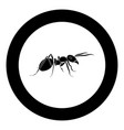 ant icon black color in circle vector image vector image