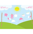 babys clothes drying under the sun vector image