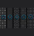black seamless islamic pattern set vector image