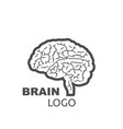brain logo style design on a white background vector image