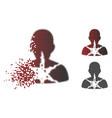 broken pixelated halftone cancer damaged patient vector image vector image