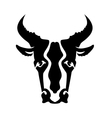 Bull Head Silhouette vector image vector image