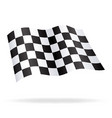 chequered checkered racing flag flying vector image