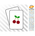 Cherry cards with bonus vector image
