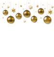christmas ball border vector image vector image
