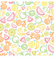colorful sketch mixed tropical fruits seamless vector image vector image