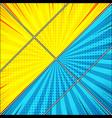 comic diagonal confrontation background vector image vector image