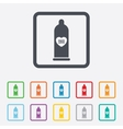 Condom safe sex sign icon Barrier contraceptive vector image vector image
