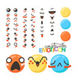 constructor of cute lovely kawaii emoticon vector image vector image