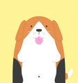 cute big fat Beagle dog vector image