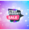 cyber monday sale sticker discount banner special vector image