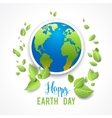 Eco image with globe vector image