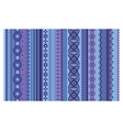 Ethnic various strips motifs in violet colors vector image vector image