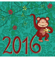Exotic monkey 2016 vector image