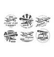 flying club premium logo templates set retro vector image