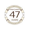 forty seven years anniversary celebration logo vector image vector image