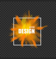 frame with splash color powder realistic vector image