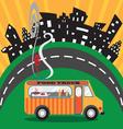 Gastro food truck vector image