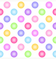 Geometric seamless pattern with colorful circles vector image vector image