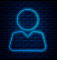glowing neon line add to friend icon isolated