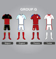 group g team jersey vector image