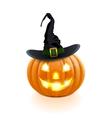 Halloween Pumpkin with Hat vector image vector image