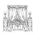 Hand made vecor sketch of cozy interior elements vector image vector image