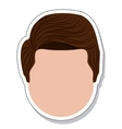 head face man isolated icon vector image vector image