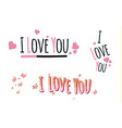 i love youheartfashion funny slogan with a vector image vector image