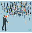 isometric people with loudspeaker vector image vector image