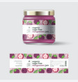 jam mangosteen label packaging jar sugar free vector image vector image