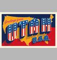 july 4th utah usa retro travel postcard vector image