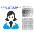 lady icon with bonus vector image vector image