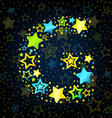 Letter G cartoon star colored vector image vector image