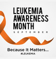 leukemia cancer awareness background in flat style vector image vector image