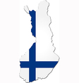 map finland with national flag vector image vector image