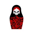 matrioshka skull russian folk doll death national vector image vector image