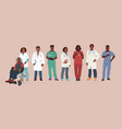 medical characters african american medics vector image vector image