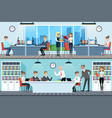modern office interior with working people vector image vector image